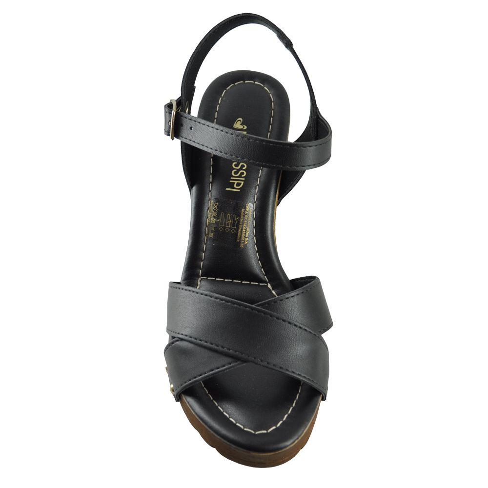 Sandália Tratorada Mississipi X9232 preto