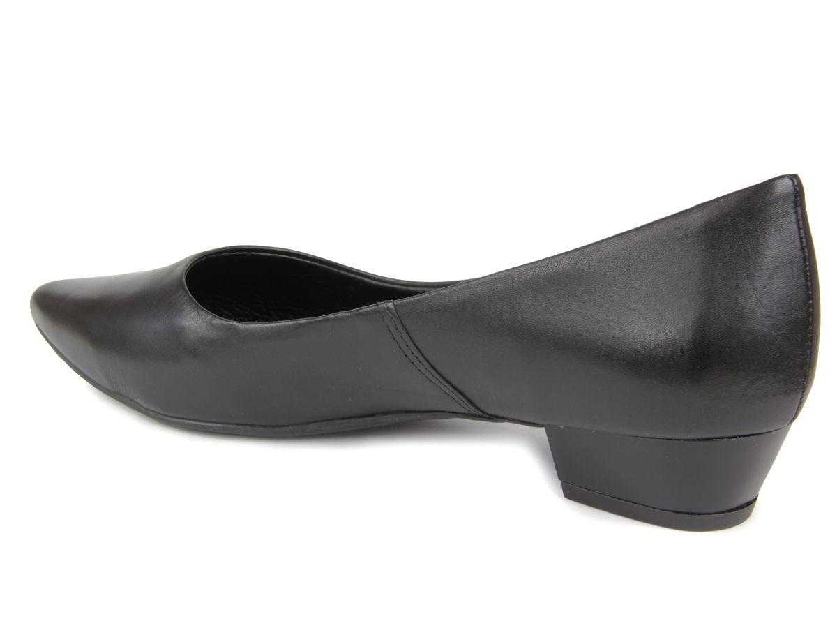 Sapato Feminino Bottero 307508 salto baixo couro - preto