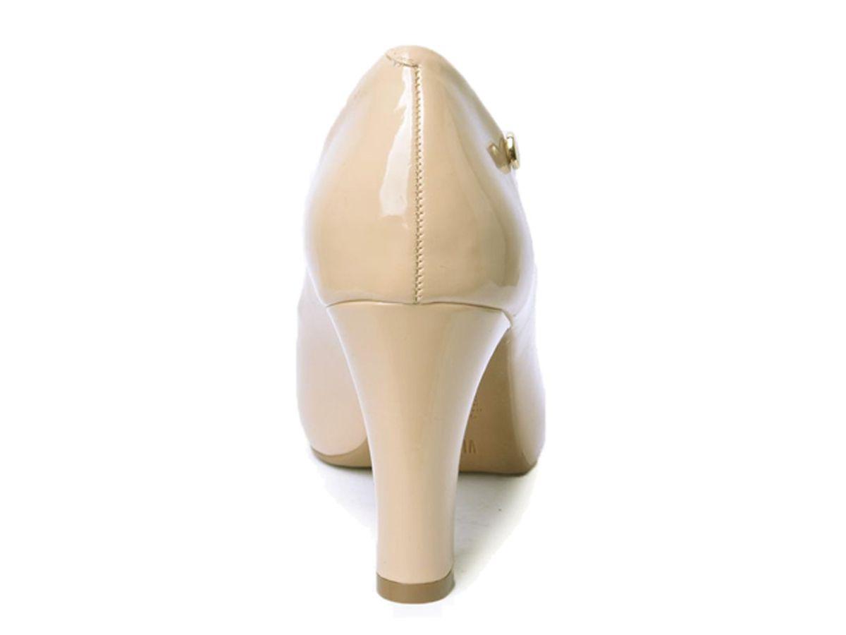 Sapato Feminino Scarpin Vizzano 1840.101 - Bege/verniz