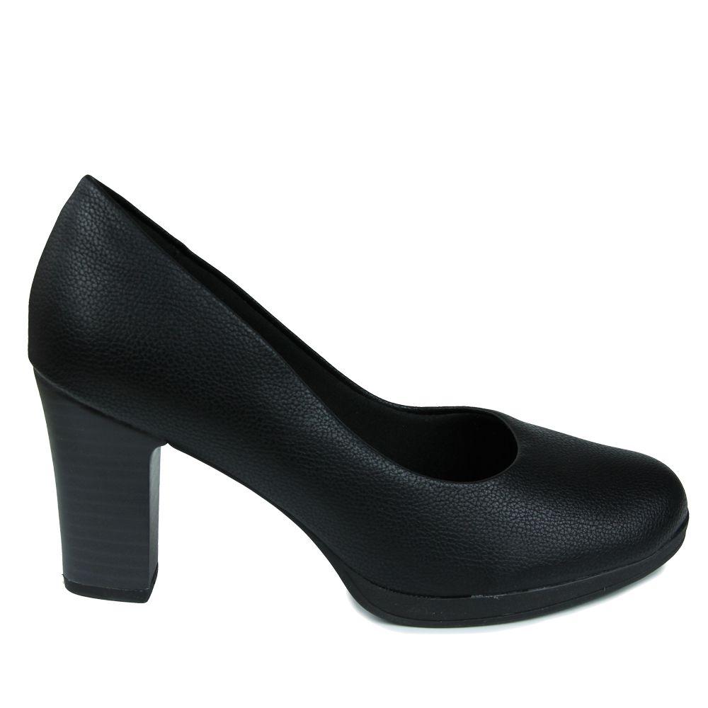Sapato Scarpin Piccadilly Salto Alto 130185 - relax preto