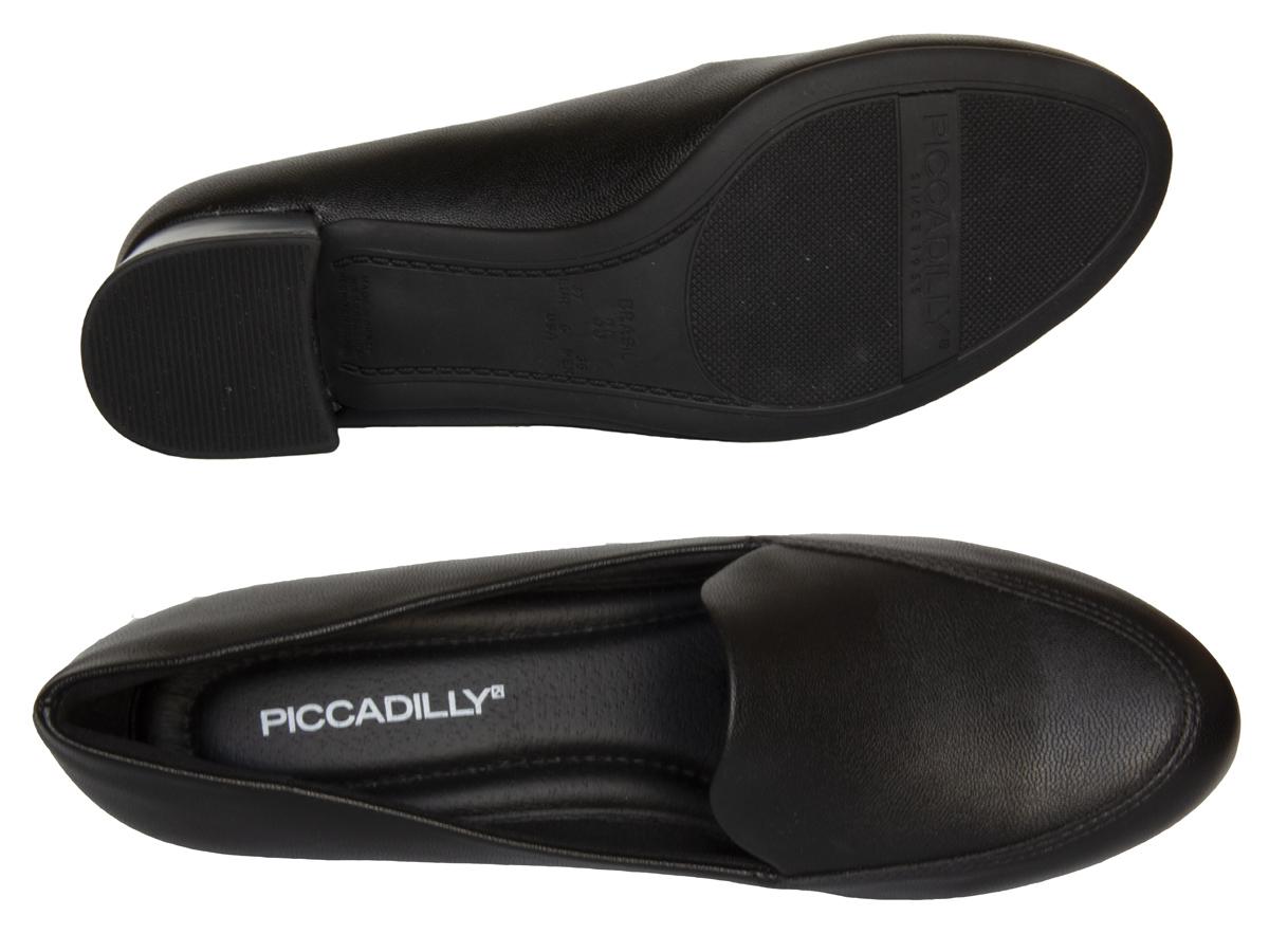 Sapato Scarpin Piccadilly 140105 Salto grosso Feminino