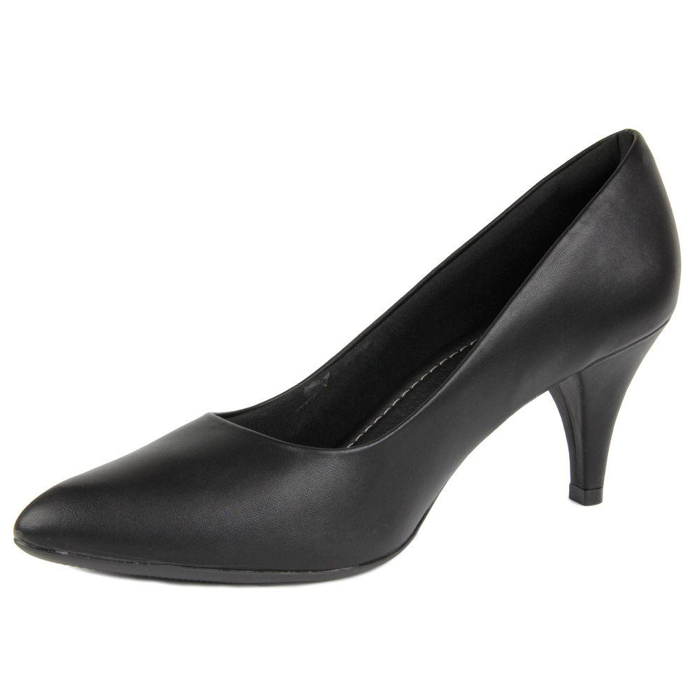 Sapato Scarpin Piccadilly 745035 Salto Alto Bico Fino