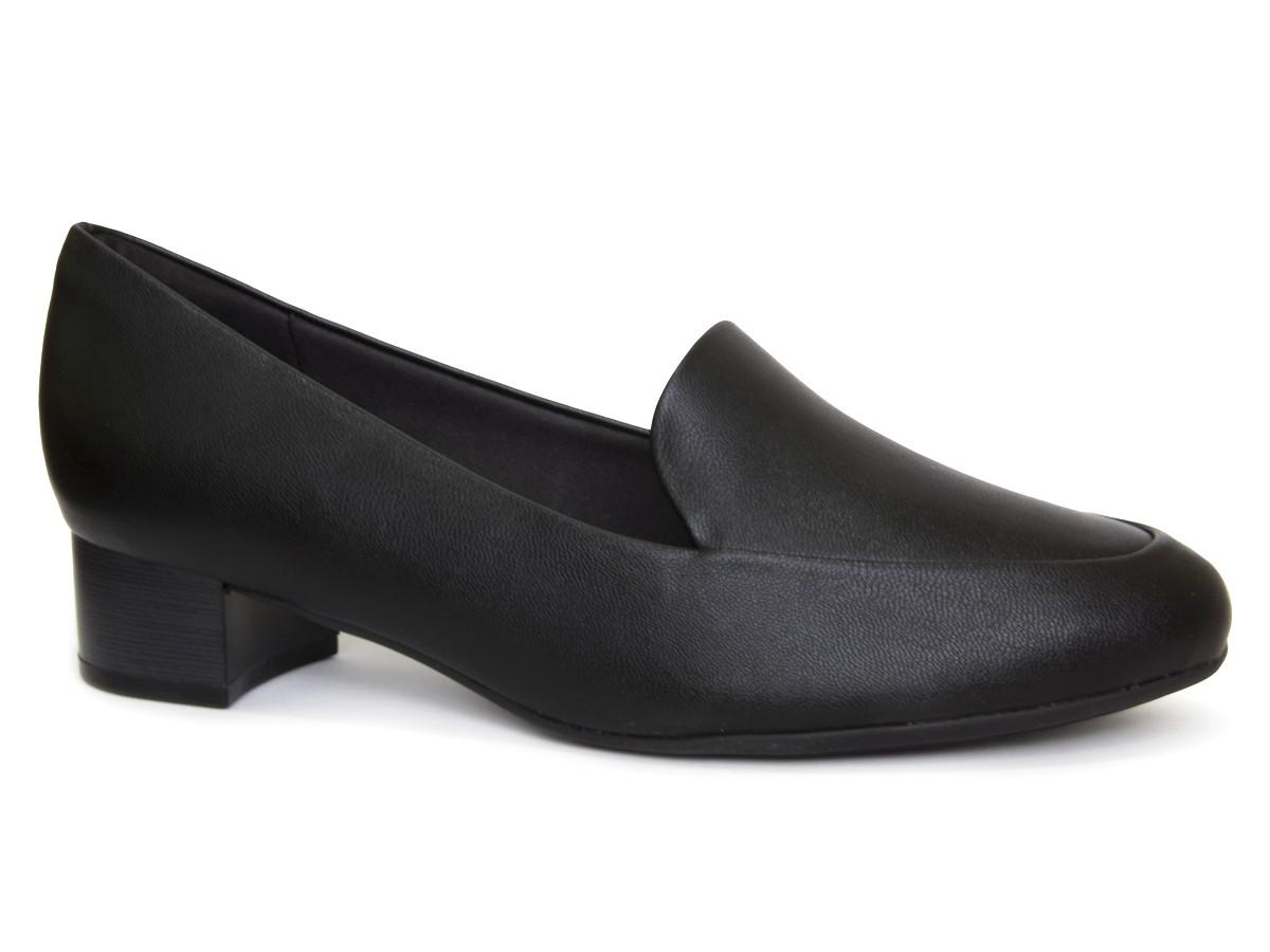 Sapato Scarpin Piccadilly Salto Grosso 140105-208 - preto