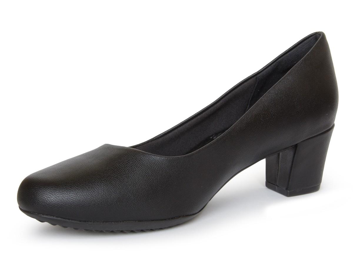 Sapato Scarpin Piccadilly Salto Medio 110120-78 - preto
