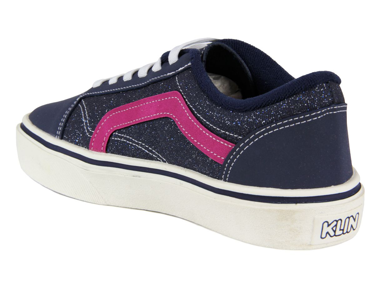 Tênis Klin Juvenil Feminino Freestyle 256025 marinho/pink