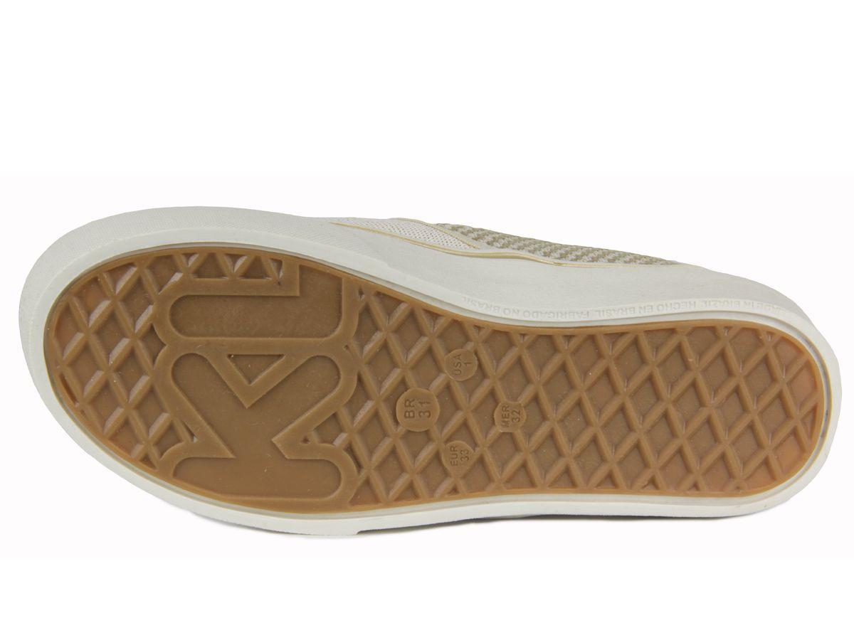 Tênis Klin Juvenil Feminino Freestyle 256029 marfim/dourado