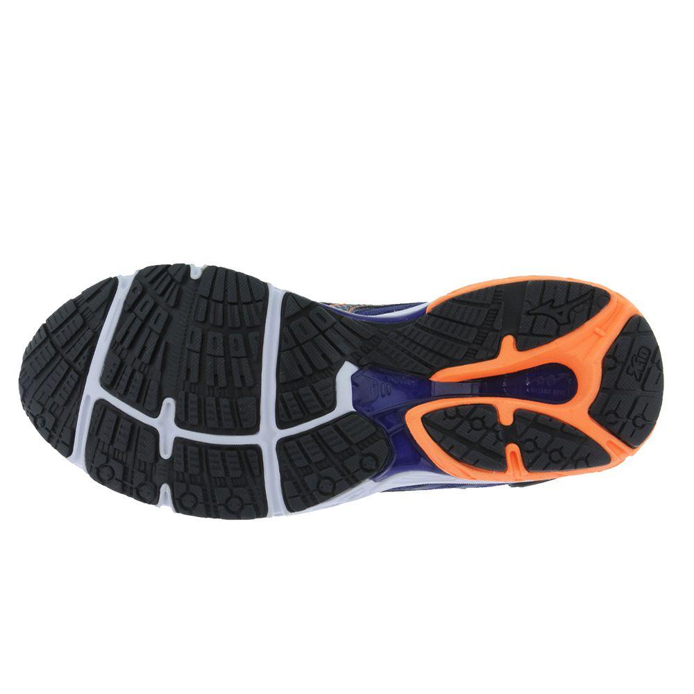 Tênis Mizuno Wave Dynasty P Masculino - azul/laranja