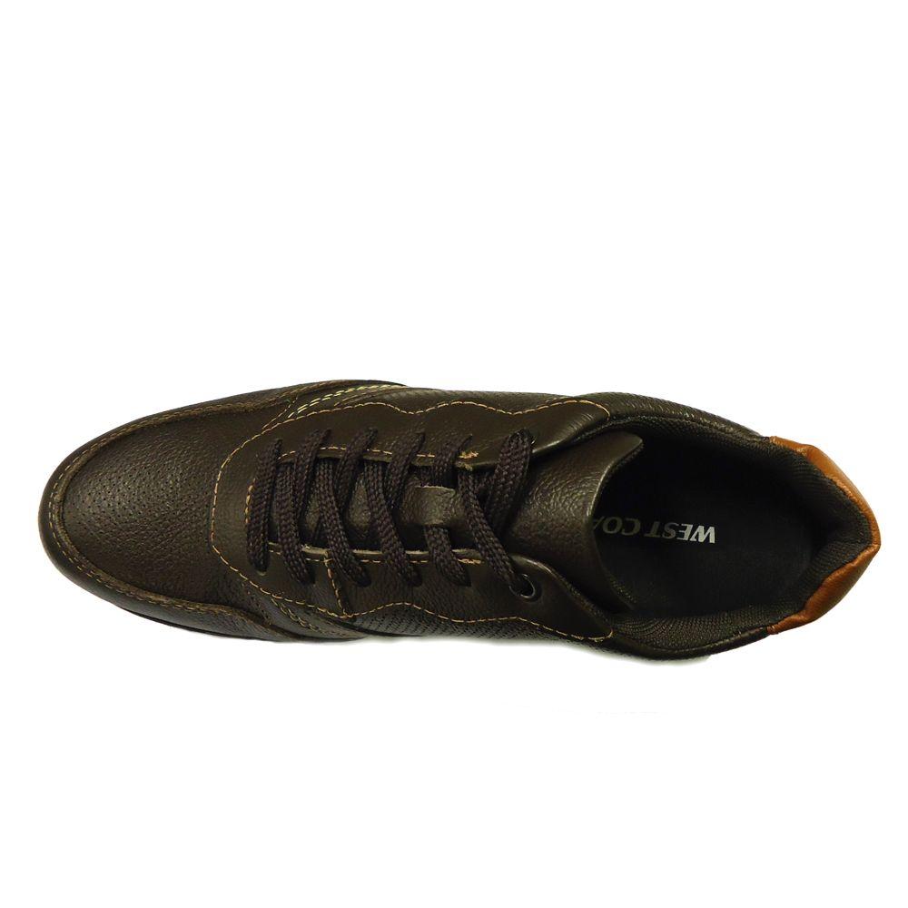 Tênis Sneaker West Coast 181201 - Café