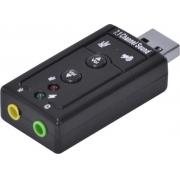 Adaptador de Som USB Virtual 7.1 Canais*