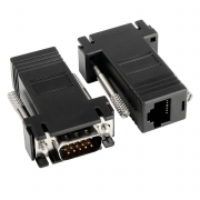 Adaptador Extensor Vga Video Via Cabo Rede de Rj45 1 conector