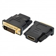 ADAPTADOR HDMI FEMEA X DVI-D MACHO (DUAL  LINK DIGITAL) 24 + 1 - EMPIRE - LAD02*