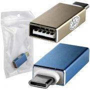 Adaptador OTG Usb 3.0 Fêmea Para Usb-c Type C Macho USB 3.1 - AD0356