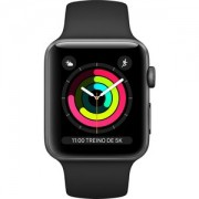 Apple WATCH S3 38 SG AL BLK SP GPS - MTF02BZ/A