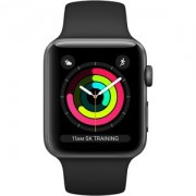 Apple WATCH S3 42 SG AL BLK SP GPS - MTF32BZ/A