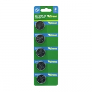 Bateria Pastilha Lithium 3V CR2025 Cartela c/ 5 Unid Green  - 013-3025