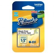 BROTHER FITA 12MM PRETO BRANCO