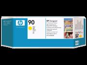 Cabeçote de impressão e limpador de cabeçote amarelo HP 90 DesignJet