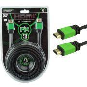 Cabo HDMI PIX 3m 2.0 4K Ultra HD 19 Pinos com Filtro 018-0320