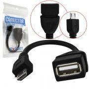 CABO USB FEMEA PARA USB RABICHO (V8) - OEM*
