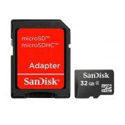 CARTAO DE MEMORIA 32GB SANDISK MICRO SD C/ ADAPT - SDSDQM-032G-B35A*
