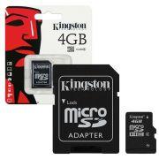 Cartão de Memória Kingston Micro SD 4GB sem adaptador mSDC4/4GB