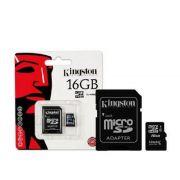 CARTÃO DE MEMORIA MICROSD 16GB + ADPT SD KING*