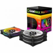Cooler Gamemax com Controle RL300 Kit Rainbow com 3 Fans 120MM