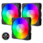 Cooler Redragon RGB com Controle GC-F007 Kit com 3 Fans 120mmX25mm