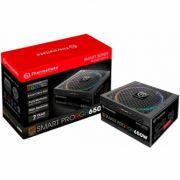 Fonte 650W Thermaltake Smart Pro RGB 80 Plus Bronze PFC Full Modular - PS-SPR-0650FPCBBZ-R