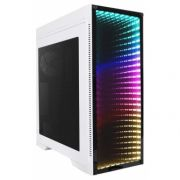 Gabinete Gamer Gamemax M908 Infinit RGB 3 FAN com LED Mid Tower Branco