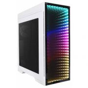 Gabinete Gamer Gamemax M908 Infinit RGB 3 FAN com LED Mid Tower Branco - M908-W