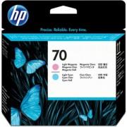 HP 70 LT CYAN AND LT MAGENTA PRINTHEAD PLUK