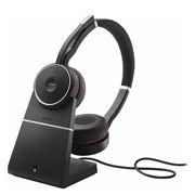 Jabra Headset sem fio Evolve 75 Stereo MS, Link 370 e Base recarregamento (USB)