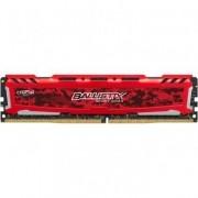 Memória Crucial Ballistix 8GB DDR4 2400Mhz Red BLS8G4D240FSE
