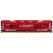 Memória Crucial Ballistix SportLT 16GB DDR4 2666Mhz Red BLS16G4D26BFSE