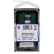 MEMORIA NOTEBOOK DDR3 1600 4GB KINGSTON KVR16S11S8/4