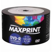 MIDIA GRAVAVEL MAXPRINT 4.7DVD IMPG DVDR 16X ENV MAX 1 PC - 7897975023133
