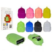 MINI ADAPTADOR V8 MICRO USB PARA USB FEMEA OTG COM FORMATO ANDROID*