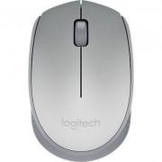 Mouse Óptico Sem Fio Nano Logitech M170  Prata e Cinza - 910-005334*