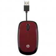 MOUSE USB RETRATIL X1250 VERMELHO HP*