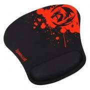 Mousepad Gamer Redragon Libra com Apoio de Pulso Preto e Vermelho
