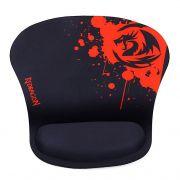Mousepad Gamer Redragon Libra com Apoio de Pulso Preto e Vermelho P020