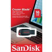 PEN DRIVE 16GB Z50 CRUZER BLADE SANDISK-SDCZ50-016G-B35