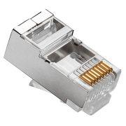 Plug Modular 8x8 RJ45 CAT5E Blindado 062-0047