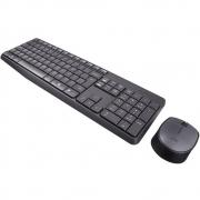 Teclado e Mouse Sem Fio Logitech MK235 Resistente à Água - 920-0079