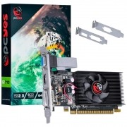 VGA GeForce 2GB GT710 Pcyes DDR3 64Bits Low Profile PA710GT6402D3LP