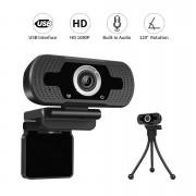 Webcam lS-F36  FullHD 1080P - 360 graus Microfone e Redução de Ruído Desktop PC Plug & Play