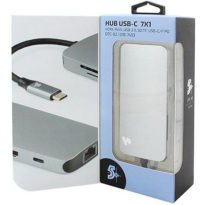 Adaptador de video Tipo-C para HDMI 7 em 1 7453 5+ PT 1 UN
