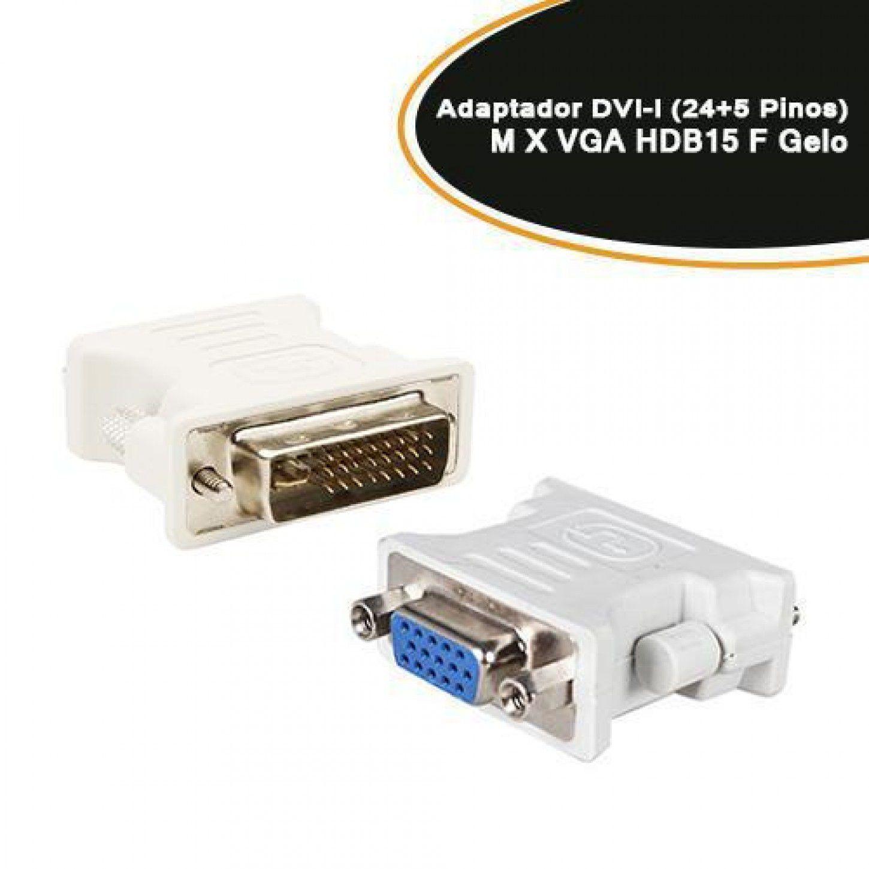 Adaptador DVI-I ( Dual Link Digital e Analogica) 24+1 X VGA Femea Empire*