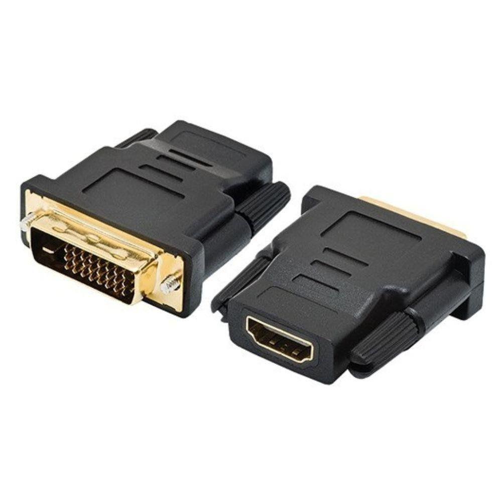 ADAPTADOR HDMI FEMEA X DVI-D MACHO (DUAL  LINK DIGITAL) 24 + 1 - EMPIRE - LAD02 - JIKATEC-KCB-6B